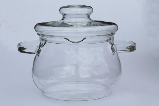 Heat Proof Clear Glass Stockpot Or Cooking Kettle 2 Quart