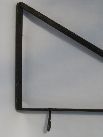 heavy old iron door shop / store sign bracket