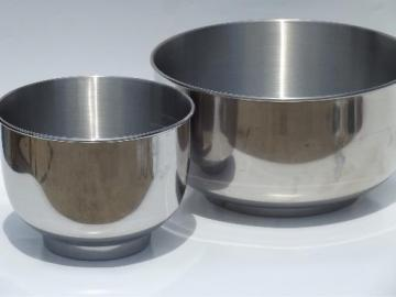 heavy stainless steel bowls marked for vintage Sunbeam mixmaster mixer