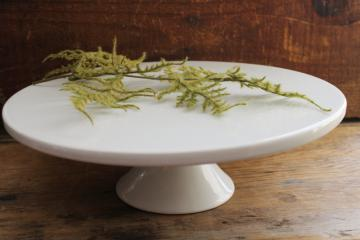 heavy white ironstone china cake stand, Cordon Bleu vintage french kitchen style