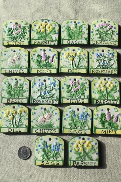 Herb Garden Plant Seed Markers Ceramic Tags For Herbs