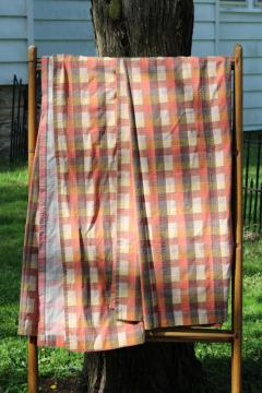 hippie vintage curtains natural earth colors homespun dobby texture cotton fabric