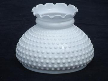 Vintage replacement glass lamp shades hobnail milk glass shade for student lamp vintage replacement shade mozeypictures Image collections