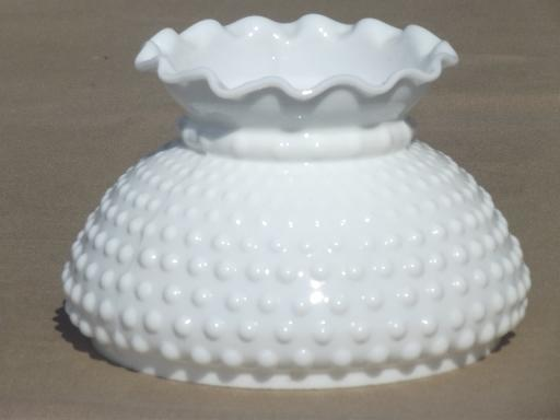 Hobnail milk glass shade for student lamp vintage replacement shade aloadofball Choice Image