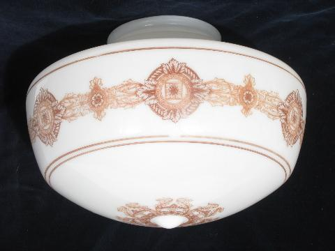 Huge Antique Shade For Ceiling Fixture Pendant Light