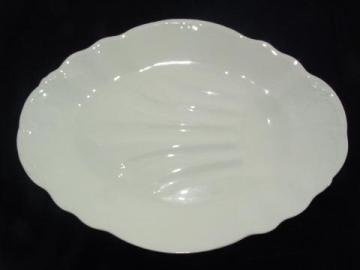 huge antique white ironstone turkey or roast platter