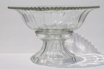 huge glass punch bowl w/ separate pedestal stand, wedding caterer punch bowl