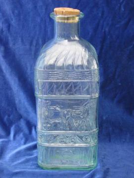 huge glass water bottle or kitchen canister storage jar, made in Italy