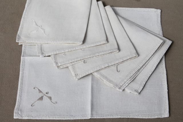 Grey cotton napkins