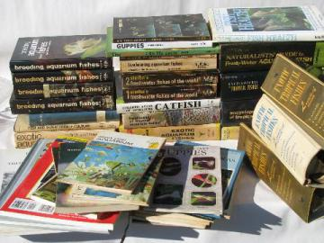 huge lot of books on breeding & raising exotic tropical aquarium fish