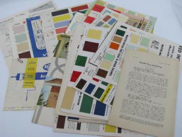 huge lot of old architectural advertising and vintage paint chips, original colors!