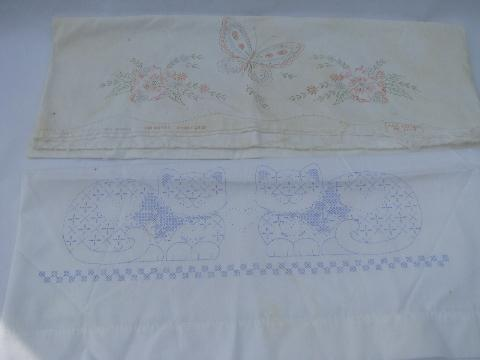 Stamped for Embroidery Pillowcases - Fairway