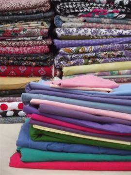 huge lot retro bed sheet style floral prints cotton & blend print fabric