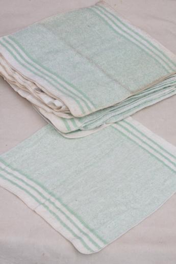 huge lot unused vintage cotton bath towels & washcloths, 1940s new old stock Cannon towels