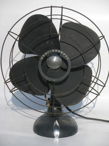 Huge Old Westinghouse Industrial Fan Unrestored Art Deco