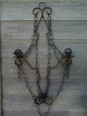& huge retro black iron gothic candle wall sconce