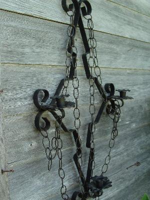 huge retro black iron gothic candle wall sconce