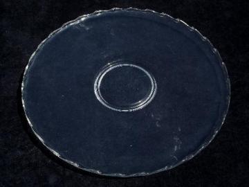 huge round cake / torte plate, vintage Century Fostoria pattern glass