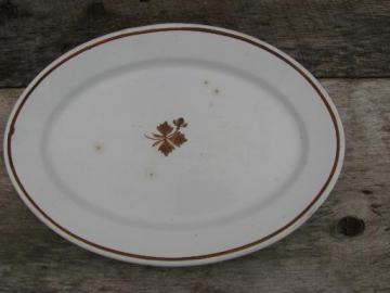 huge turkey platter, old antique Tea Leaf ironstone Alfred Meakin