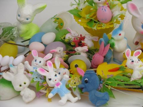 huge vintage Easter lot, decorations, ornaments, flower