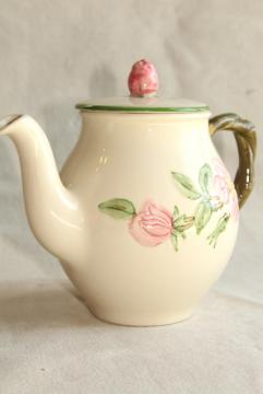 individual coffee pot, Desert Rose pattern vintage USA Franciscan pottery