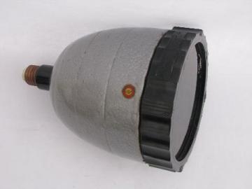 industrial machine-age Kodak Model A Safelight pendant lamp, steampunk vintage
