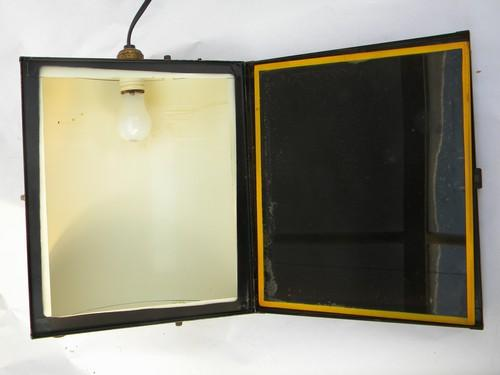 industrial vintage Kodak model C photography safelight w/amber filter
