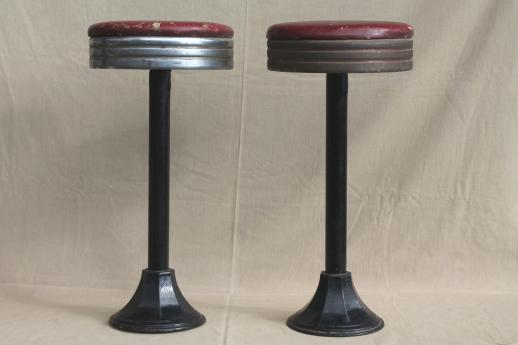 Industrial Vintage Metal Stools Antique Cast Iron Bar