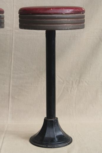 Industrial Vintage Metal Stools Antique Cast Iron Bar