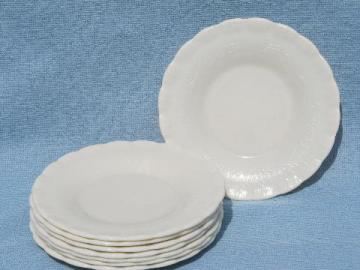 ivory chinex vintage depression era kitchen glass, 8 cake/pie plates