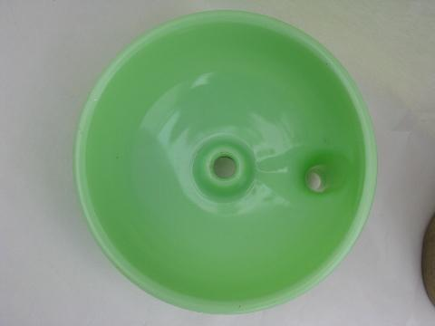 jadite green vintage depression kitchen glass juicer bowl for mixer