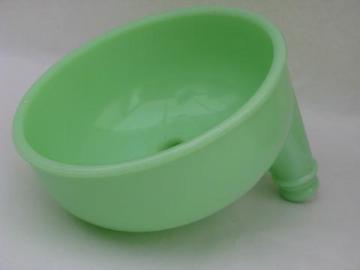 jadite green vintage depression kitchen glass juicer bowl for mixer