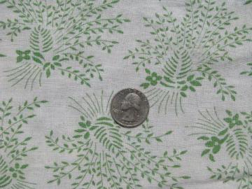 jadite green wheat sheaves, 1930's vintage print cotton feedsack fabric