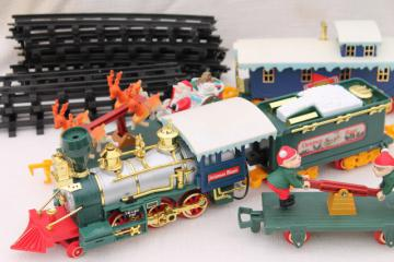 large Santa Claus train, working plastic electric train for Christmas village or under the tree