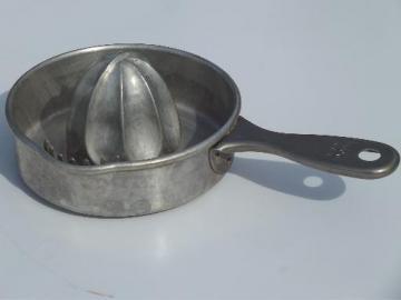 large aluminum reamer, old Kwicky orange juicer, vintage kitchenware