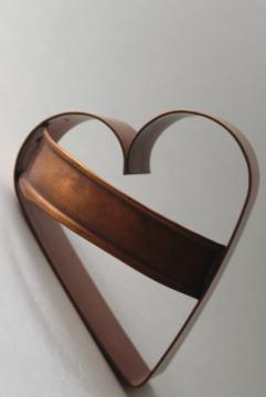 large copper heart, valentine heart shaped cookie cutter modern farmhouse primitive