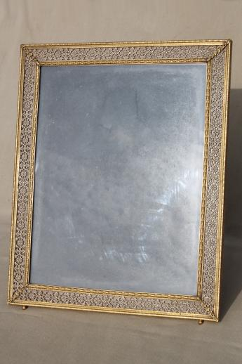 Large Easel Picture Frame For Table Sign Or Vanity Stand
