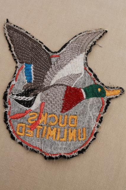 Embroidered Patches Ducks Unlimited Jacket Patch W Embroidered