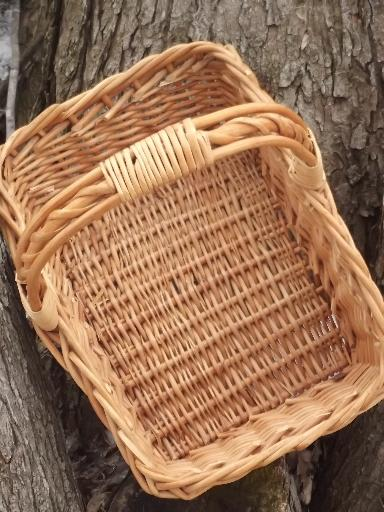 large garden basket, natural wicker basket for produce or flowers