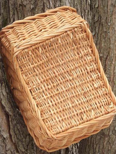 garden basket natural wicker basket for produce or flowers
