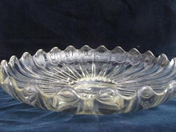 large glass snack or sandwich plate, vintage Duncan & Miller festival line