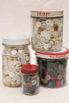 large lot antique & vintage buttons, primitive old buttons from work shirts etc.