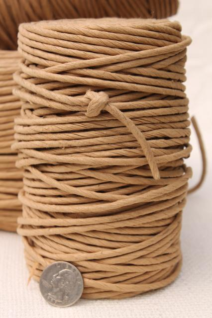 Basket Making Natural Materials : Large lot natural brown paper twist cord for piping or