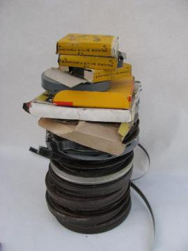 large lot of vintage 16mm black and white soundie movie films, Abbot and Costello.