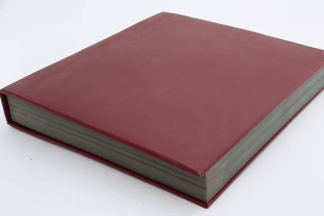 Large Old Album Vintage Blank Book W Hardbound Cover Black