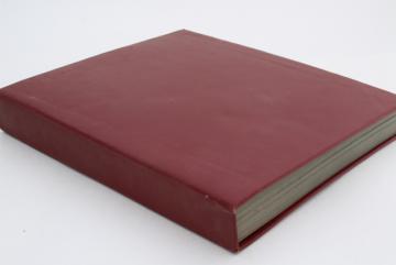 large old album, vintage blank book w/ hardbound cover, black chalkboard art paper pages