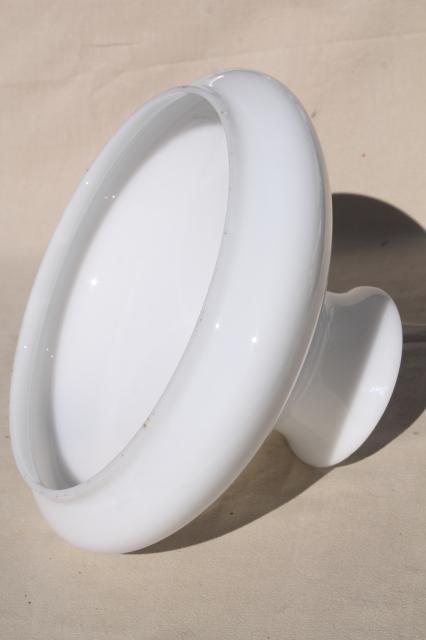 Large Plain White Milk Glass Shade For Hanging Light Or