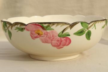 large salad bowl, vintage Franciscan pottery Desert Rose china