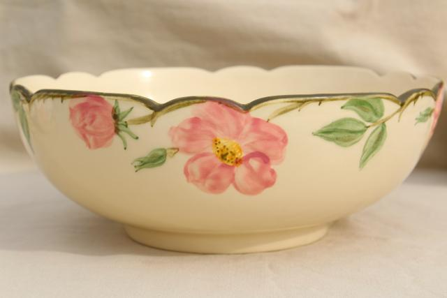 Large Salad Bowl Vintage Franciscan Pottery Desert Rose China