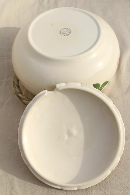 large soup tureen w/ notched lid, vintage Franciscan Desert Rose USA ...
